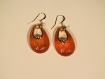 Orange Lucite Earrings Inspired by Alexis Bittar