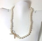 White Pearls with pave bow