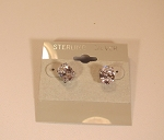 CZ Stud Earrings (Oval)