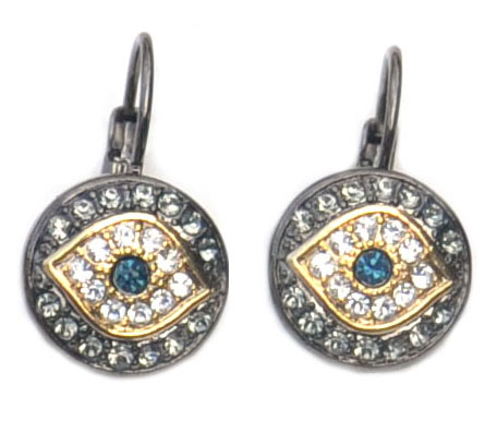 Evil Eye CZ earrings