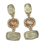 Marco Bicego Inspired Gold & Stone Earrings