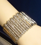 Statement Silver & Crystal Bracelet