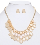 Cream Bib Necklace set
