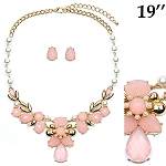 Pink & Pearl Necklace set