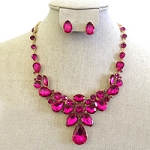 Crystal Necklace PeaPinkr Shape Hot