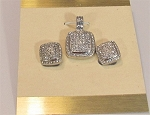 Pave Enhancer and Earring Set