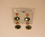 Sterling w/14k Vermeil Citrine & Peridot CZ  Earrings