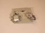 Hoop Earring, Silver Ribbon Twist