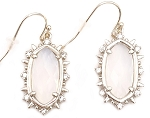 Oval Opal Dangle Earring