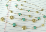 Marco Bicego Inspired Gold Nugget & Turquoise Chain