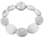 Marco Bicego Inspired Rhodium Pave Bracelet