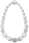 Marco Bicego Inspired Rhodium Pave Necklace