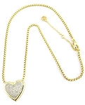 Pave Heart Necklace Inspired by Tiffany
