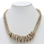 Inspired by Swarovski Gold Stardust Knot Necklace