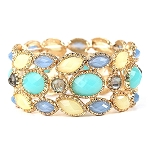 Stone Stretch Multi Color bracelet