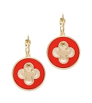 Van Cleef Inspired Earrings Red