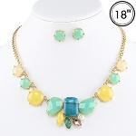 Green & Turquoise Necklace Set