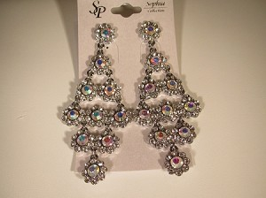 Chandelier Earrings, Clear