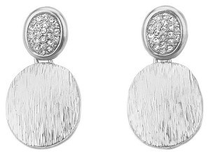 Marco Bicego Inspired Rhodium Pave Earrings