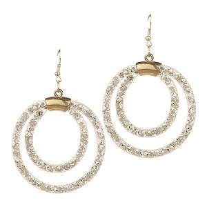 Inspired by Swarovski Gold Stardust Dangle Loop Earrings b03c9e242