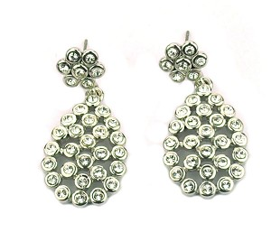 Crystal Earrings Teardrop