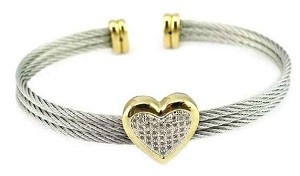 Pave Heart Bracelet Inspired by Tiffany